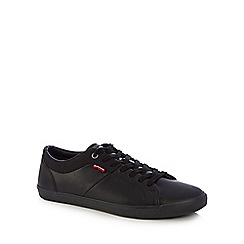 Levi's - Black 'Wood' lace up trainers