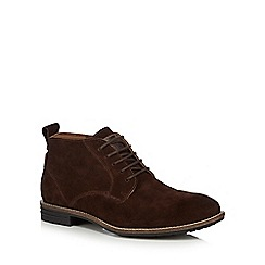 Levi's - Brown leather 'Huntingdon Chukka' lace up boots