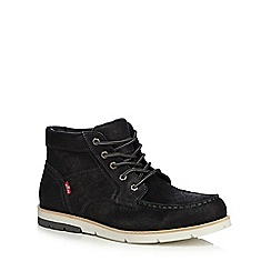 Levi's - Black leather 'Dawson' lace up boots