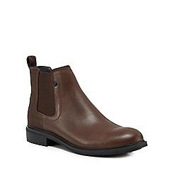 G-Star - Dark brown leather 'Warth' Chelsea boots