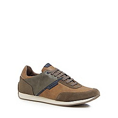 Geox - Brown 'Dassel' lace up trainers