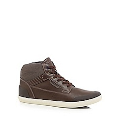 Geox - Dark brown 'Halver' high top trainers