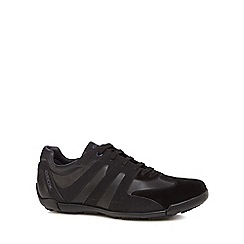 Geox - Black leather 'Edgware' lace up trainers