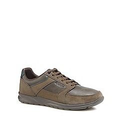 Geox - Taupe suede 'Erast' trainers