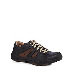 Skechers - Black leather 'Larson Nerick' trainers