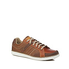 Skechers - Tan leather 'Lanson' trainers