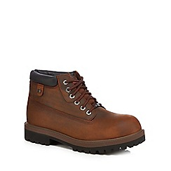 Skechers - Brown leather 'Sergeants Verdict' lace up boots