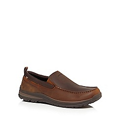 Skechers - Brown 'Superior' slip-on shoes