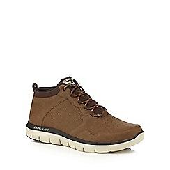 Skechers - Light brown leather 'Flex Advantage' walking boots