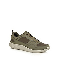 Skechers - Khaki 'Depth Charge' lace up trainers