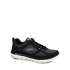 Skechers - Black 'Flex Advantage' wide fit trainers