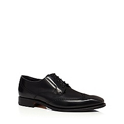 Loake - Black leather 'Brummel' Goodyear welted brogues
