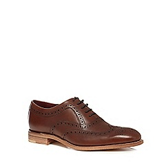 Loake - Brown leather 'Fearnley' Goodyear welted brogues