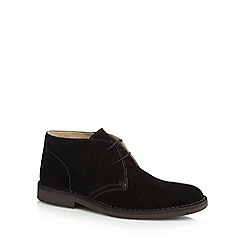 Loake - Black suede 'Sahara' desert boots