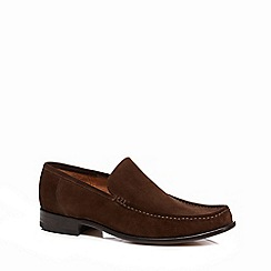 Loake - Brown suede 'Treviso' slip-on shoes