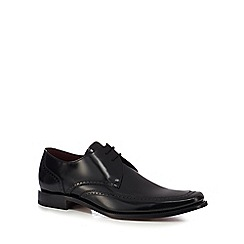 Loake - Black leather 'Harrison' Goodyear welted sole Derby shoes