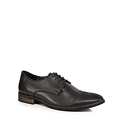Lotus Since 1759 - Black leather 'Risley' derby shoes