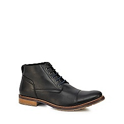 Lotus Since 1759 - Black leather 'Wheeler' lace up boots