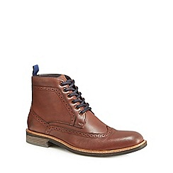 Lotus Since 1759 - Brown leather 'Aldridge' lace up brogue boots