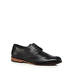 Lotus Since 1759 - Black leather 'Denford' brogues