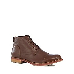 Lotus Since 1759 - Brown leather 'Wheeler' chukka boots