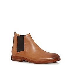 H By Hudson - Tan leather 'Tonti' Chelsea boots