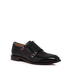 H By Hudson - Black leather 'Baldwin' monk strap shoes
