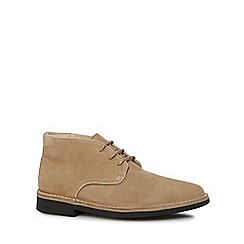 H By Hudson - Dark cream suede 'Margrey' chukka boots