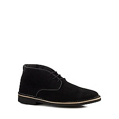 H By Hudson - Black suede 'Margrey' Chukka boots