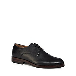 H By Hudson - Black leather 'Enrico' Derby shoes