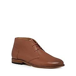 H By Hudson - Tan leather 'Arkin' chukka boots