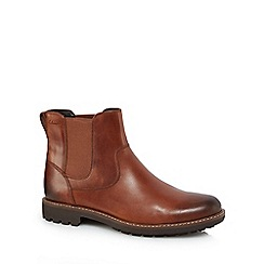 Clarks - Brown leather 'Montacute' Chelsea boots