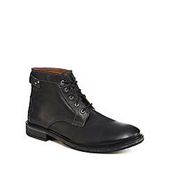 Clarks - Black leather 'Clarkdale Bud' lace up boots