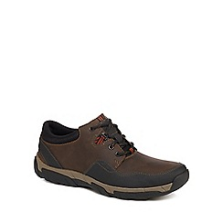 Clarks - Brown 'Walbeck Edge' lace up trainers
