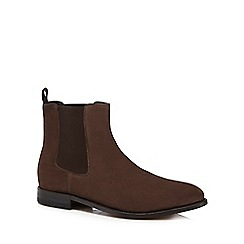 Clarks - Brown suede 'Ellis Franklin' Chelsea boots