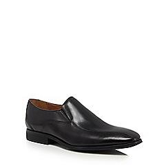 Clarks - Black leather 'Gilman' slip-on shoes