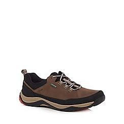 Clarks - Light brown suede 'Baystone Run Gorete' trainers