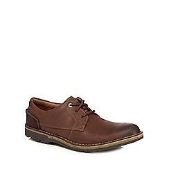 Clarks - Brown leather 'Edgewick' lace up shoes