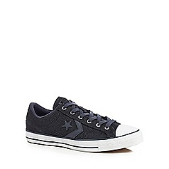 Converse - Navy 'Star Player' lace up trainers