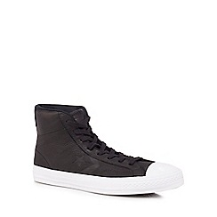 Converse - Black leather 'Star Player' high tops