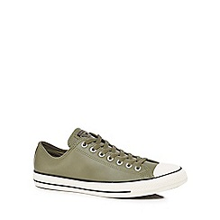 Converse - Khaki leather 'All Star' trainers