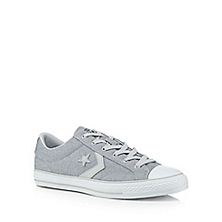 Converse - Light grey 'Star Player' lace up trainers