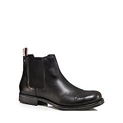 Jack & Jones - Black leather 'Greg' Chelsea boots