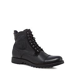 Jack & Jones - Black 'Dean' lace up boots