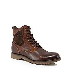 Jack & Jones - Brown 'Dean' lace-up boots