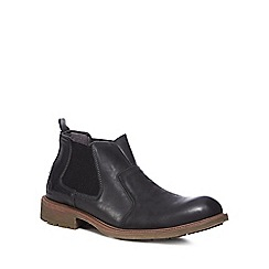 Chatham Marine - Black leather 'Logan' Chelsea boots