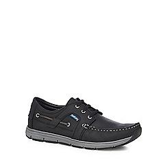 Chatham Marine - Black leather 'Byron' lace up shoes