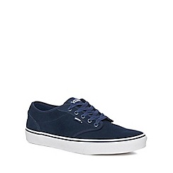 Vans - Navy suede 'Atwood' trainers