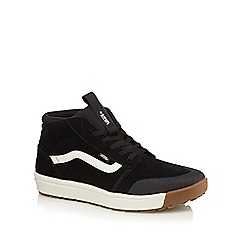 Vans - Black suede 'Quest' high top trainers