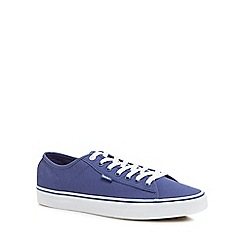 Vans - Navy canvas 'Ferris' lace up trainers